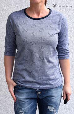 Shirt mit Kräuselrücken aus Albstoffe Jacquard - Die Komplizin