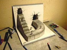 30 Beautiful 3D Drawings - 3D Pencil Drawings and Art works | Read full article: http://webneel.com/3d-drawings-pencil-art | more http://webneel.com/daily | Follow us www.pinterest.com/webneel