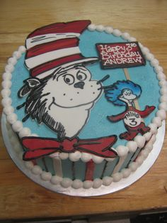 Dr. Seuss Cat in the Hat Cake #sugarlipscakery