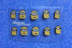Adesivos para Unhas - Belíssima: Minions