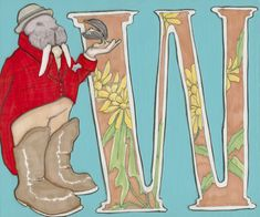 W is for Walrus- 9x7.5 Wonderland Alphabet Print
