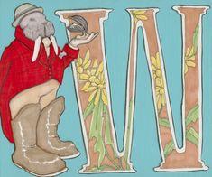 W is for Walrus- 9x7.5 Wonderland Alphabet Print