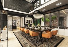 How To Arrange Modern Dining Room Designs Which Completed With Trendy Decorating Ideas In It