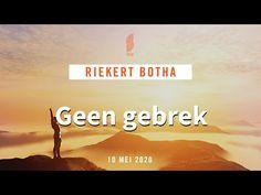 Geen Gebrek | Riekert Botha | 10 Mei 2020 - YouTube Album, Songs, Youtube, Youtube Movies, Card Book