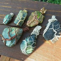 All these wire wrapped trees of life are currently available! Labradorite and ja. - All these wire wrapped trees of life are currently available! Labradorite and jasper. Wire Pendant, Wire Wrapped Pendant, Wire Wrapped Jewelry, Wire Wrapped Stones, Rock Jewelry, Sea Glass Jewelry, Jewellery, Jewelry Box, Copper Wire Art