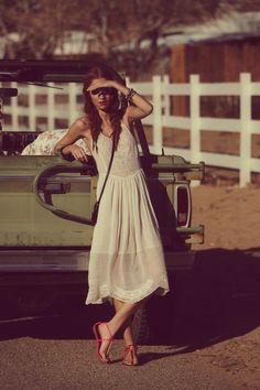 Free people lookbook. Lovely dress!