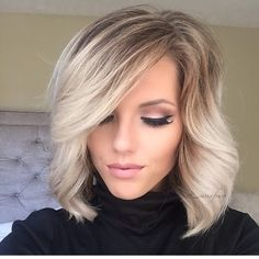 Beautiful blonde bob by Amber Moyer blonde highlights balayage Ombre @shearenvytupelo