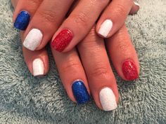 Nails by Mindy 816-914-8987 Historical square Liberty, MO 4th of July independence nails