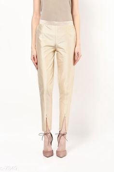 Checkout this latest Women Trousers Product Name: *Tulip Silk Pant* Fabric: Silk With Cotton Line Size (in): - S - (30) M - (32) L - (34) XL - (36) XXL - (38)  Work: Pearl at the Zipper near Ankles Country of Origin: India Easy Returns Available In Case Of Any Issue   Catalog Rating: ★4.1 (344)  Catalog Name: Tulip Silk Pant CatalogID_768 C79-SC1034 Code: 683-7349-909