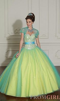 Layered Tulle Quinceanera Dress by Mori Lee at PromGirl.com