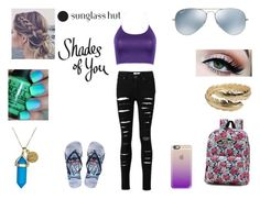 """Shades of You: Sunglass Hut"" by wattpad-is-life on Polyvore featuring Vans, Disney, CC SKYE, Dee Berkley, Casetify, Ray-Ban and shadesofyou"