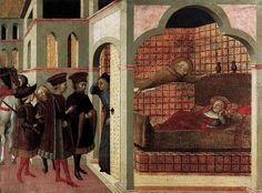Sassetta - The Blessed Raniero of Borgo San Sepolcro Appearing to a Cardinal in a Dream -
