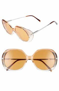 efdb9c0415c3 Céline 56mm Round Sunglasses Italian Sunglasses