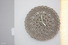 Crochet clock PDF Pattern wall clock for home decor clock by ooty, $5.50