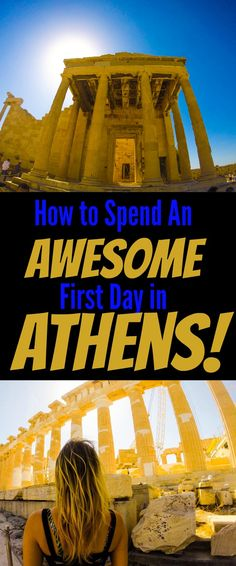 Everything you need to know to have an awesome first day in Athens!!! Athens is definitely one of the best European cities: it's got great weather, great food, great locals, fascinating history. If you want it all, head to Greece! Via @travellingweas