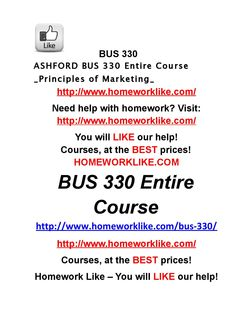 Ashford bus 330 entire course principles of marketing