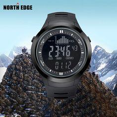 US $53.99 - NORTH EDGE Fashion Sport Brand Watches Men Outdoor Altitude Climbing Digital Watch Altimeter Barometer Fishing Clock Men Relojes