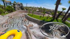 Caribe Bay (Aqualandia) 2019 Crazy River (right side) VR Onslide Music Clips, Right Side, Vr, Palm Trees, Trail, Water, Water Water, Aqua, Palms
