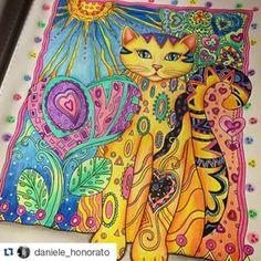Gatinho mais lindo esse! Tag #coloriagenostress e apareça aqui! #Repost @daniele_honorato ・・・ Terminei! Meu primeiro gatinho do #creativecats ❤️ #coloringbooks #colorindolivros #jardimsecreto #secretgarden #florestaencantada #enchantedflorest #jardimsecretoinspire #jardimsecretotop #jardimsecretofans #desenhosparacolorir #amocolorir