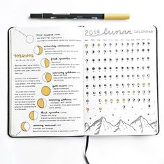 """2,779 Likes, 60 Comments - rosana • bullet journal (@thestudiesphase) on Instagram: """"This is how my spread dedicated to the moon phases looks like today is january 17th, the first…"""""""