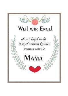 """Kunstdruck Bild Spruch """"Mama""""  von MilaLu auf DaWanda.com"""