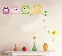 Owls decoration sticker