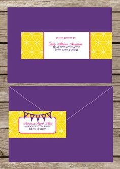 RAPUNZEL - Tangled Inspired Wrap Around Mailing labels - Available in Pastels as well. <3 these!