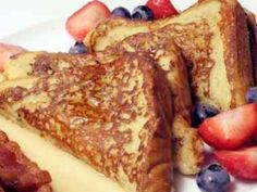 Almond milk french toast, yum! Nice plant-Based Recipe I must try instead of the Saturday morning pancakes.