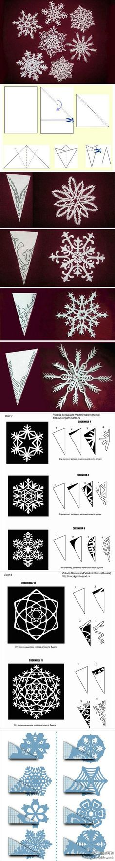 Ideas For Paper Art Diy Kirigami Decoration Origami Paper, Diy Paper, Paper Art, Paper Crafts, Diy Crafts, Diy Origami, Paper Toys, Winter Christmas, Christmas Holidays