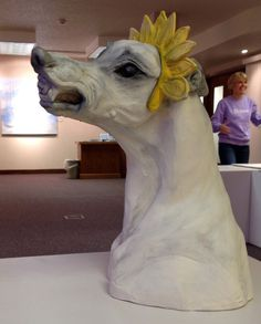 More of Sarah Regan Snavely's sculpture. I guess the tiara wasn't the right color!