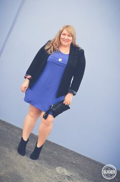 A mini-dress and boots. {She Wore What} #plus #size #fashion #blog #outfit