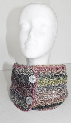 Womens Button Neckwarmer/ Infinity Scarf/ Cowl  by SnugableTouches, $18.00