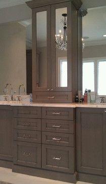 robins egg blue bathroom | master bath: love the marble counter