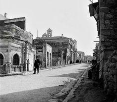 Émile Honoré Destelle ΗΡΆΚΛΕΙΟ οδός Μαρτύρων 25ης Αυγούστου περ.1900 Old Photos, Vintage Photos, Heraklion, Old Maps, Crete, The Past, Louvre, Street View, Travel