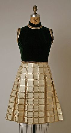 Pierre Balmain House of Balmain  cocktail dress ensemble from 1963-1967.