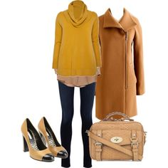 Mustard Yellow + Camel