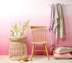 How to Paint Beautiful, Ombre-Effect Nursery Walls in 5 Easy Steps: A rosy, water-colored wall would be a perfect fit for an all-pink, girl's room
