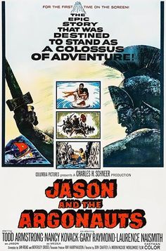 Jason And The Argonauts Fantastic special effects by Ray Harryhausen and exciting mythological adventure make this a film that is fun for everyone. It's the story of Jason (Todd Armstrong), a f Drive In, Jason Todd, Jason And The Argonauts, Epic Story, Film School, Columbia Pictures, Fantasy Movies, Classic Movies, Classic Tv