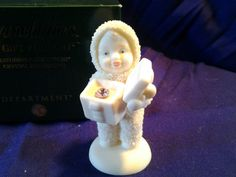 Snowbabies A Gift For You Collectible Figurine Dept 56 with box June Birthstone | eBay