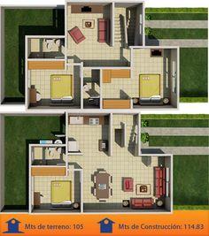Resultado de imagen para planos de habitaciones principales