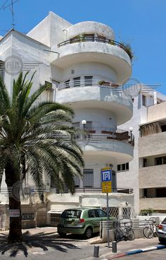 The Bauhaus style building . 15 Dov Hos Street, Tel Aviv