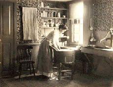 "SARAH J. EDDY ""A Sunny Kitchen"" ca. 1890s, platinum print"