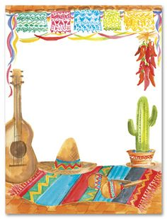 Fiesta Theme Party Invitations Mexican Birthday Parties