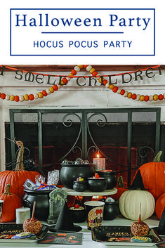 Host a spell binding Hocus Pocus Halloween Party with this inspiring party from Everyday Party Magazine #HalloweenParty #HocusPocusParty #ISmellChildren