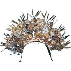 Vintage Indonesia Sumatra Wedding Crown Tiara Headpiece...