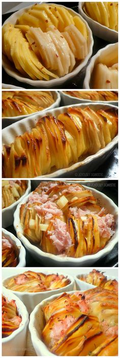 Individual Crispy Potato Roasts With Ham Swiss
