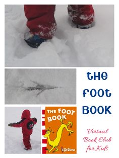 The Foot Book by Dr Seuss Activities for kids - taking literature outside in the winter snow