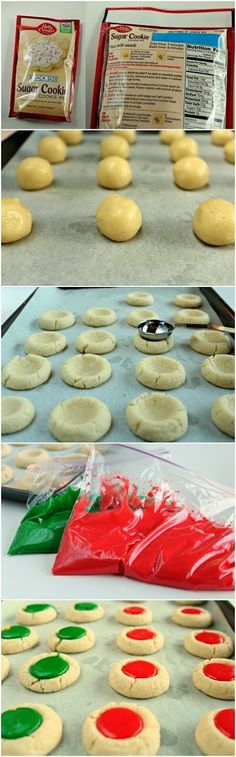How To Christmas Thumbprint Cookies