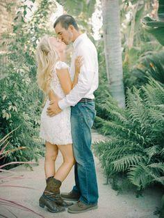 Sweet Summer Engagement Shoot: Kisses & Cowboy Boots | Mariel Hannah Photography (click to see lots more!)