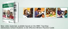 New video materials available based on the WWC Teaching Elementary School Students to Be Effective Writers Practice Guide